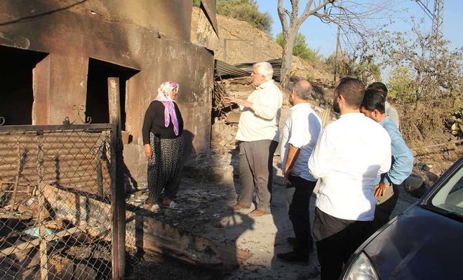 HÜDA PAR Adana İl Başkanı Demir yangın bölgelerini ziyaret etti