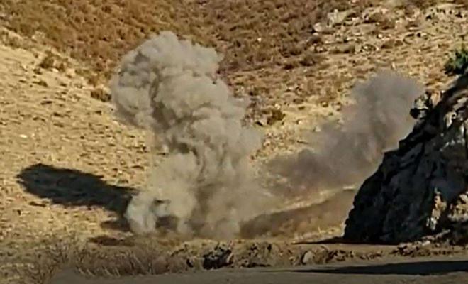Bitlis kırsalında ele geçirilen patlayıcılar imha edildi