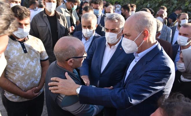 Kurtulmuş'tan katledilen 7 kişinin ailesine taziye ziyareti!