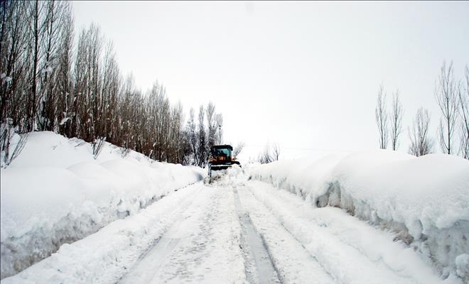 Kar nedeniyle 89 köy yolu kapandı