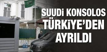 Suudi Konsolos Türkiye`den ayrıldı