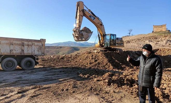 Adıyaman Belediyesi'nin asfalt plenti inşaatı devam ediyor
