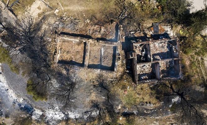Manisa'daki yangından geriye kalanlar