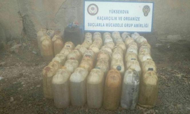 Hakkâride 3 bin litre gümrük kaçağı akaryakıt ele geçirildi