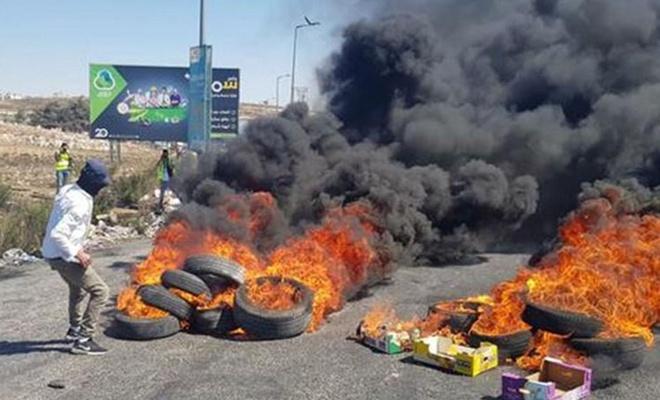 Esirlere destek eyleminde 8 Filistinli yaralandı