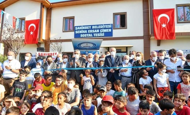 Gaziantep'in her mahallesine sosyal tesis yapılıyor