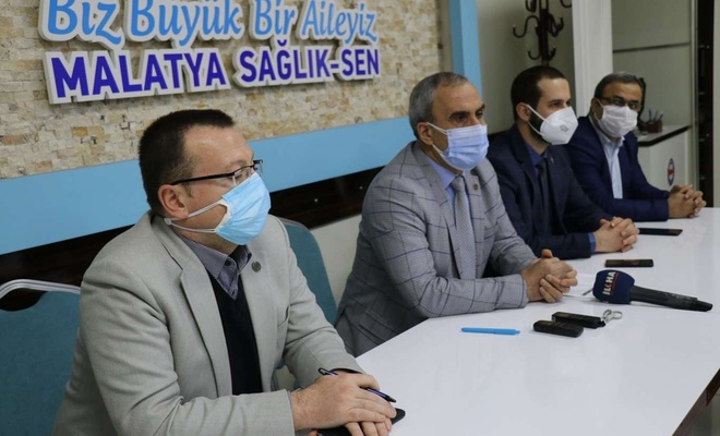 """Sağlık-Sen Malatya Şube Başkanı'ndan """"Bürokrasi aşılamıyor"""" vurgusu"""