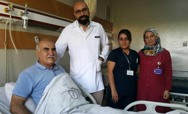 Aynı anda 3 kapalı ameliyat geçiren hasta sağlığına kavuştu