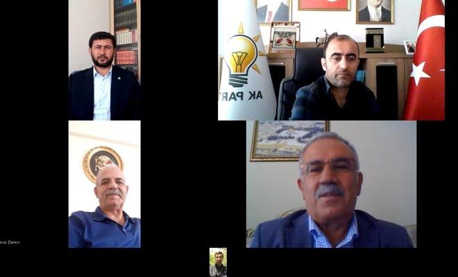HÜDA PAR Muş İl Başkanı Çağlayan il protokolüyle video konferans aracılığıyla bayramlaştı