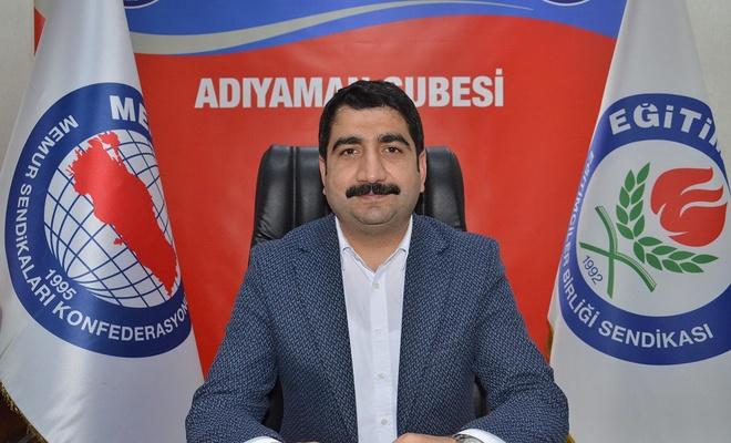 """EĞİTİM-BİR-SEN Adıyaman Şube Başkan Vekili Demir: """"Mesleki çalışmalar online yapılmalıdır"""""""