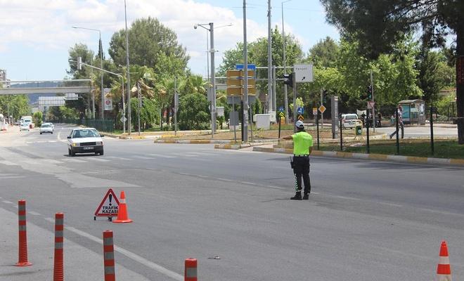 Sokağa çıkma yasağının ilk gününde Adıyaman'da yol kontrolü gerçekleştirildi