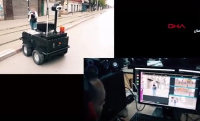 Tunus'ta sokağa çıkma yasağını robotlar kontrol ediyor