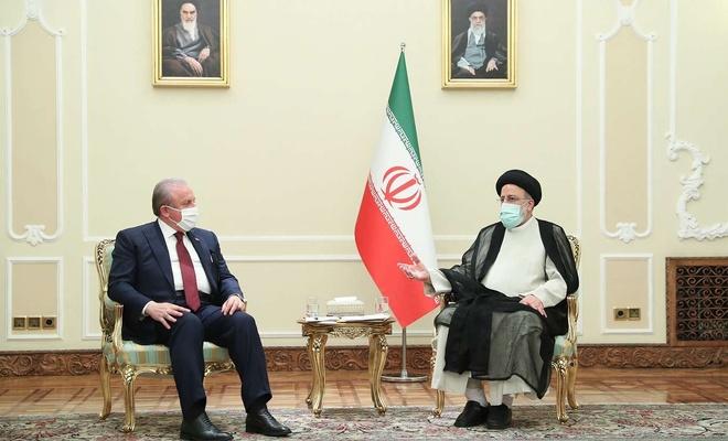 TBMM Başkanı Şentop ile İran Cumhurbaşkanı Reisi görüşmesinde Afganistan vurgusu