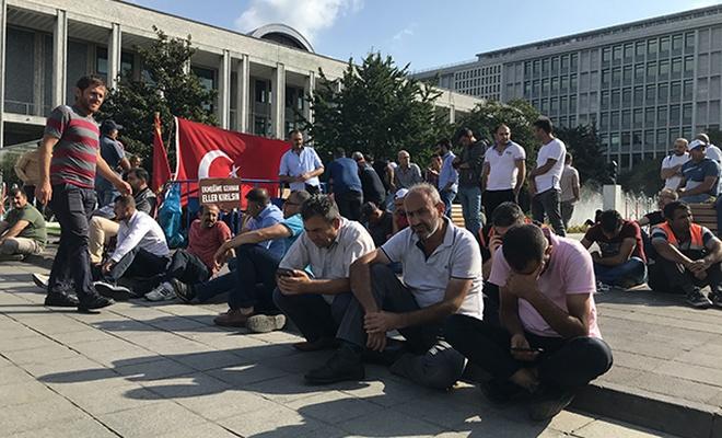 İBB'nin işten çıkarma zulmüne karşı yapılan eylem 18'inci gününde