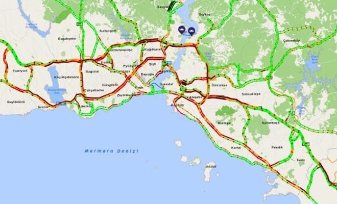 İstanbul'da yarıyıl tatili trafiği!
