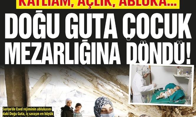 Katliam, açlık, abluka…Doğu Guta çocuk mezarlığına döndü!