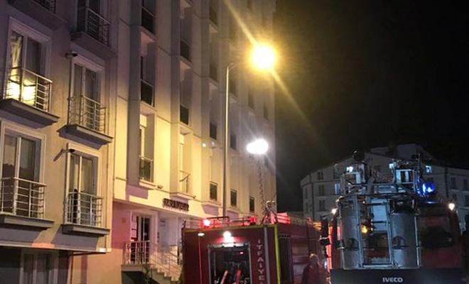 Kırıkkale`de apartta yangın