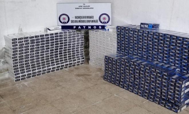 Ağrı'da 12 bin paket kaçak sigara ele geçirildi