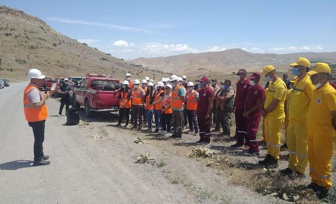 Orman işletme şeflerine yönelik uygulamalı yangın tatbikatı