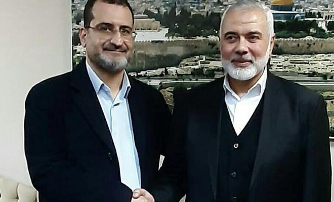 """نائب رئيس """"اتحاد العلماء والمدارس الإسلامية"""" يلتقي مع إسماعيل هنية زعيم حركة حماس"""