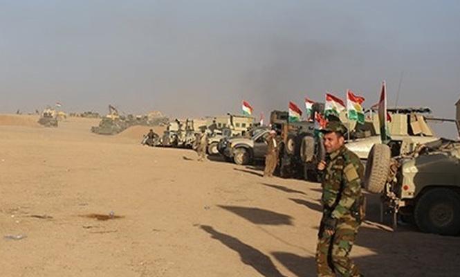 Peşmerge Erbil ile Kerkük arasında mevzi kazıyor