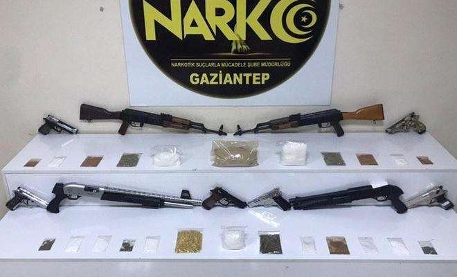 Gaziantep'te uyuşturucu operasyonunda 39 kişi gözaltına alındı