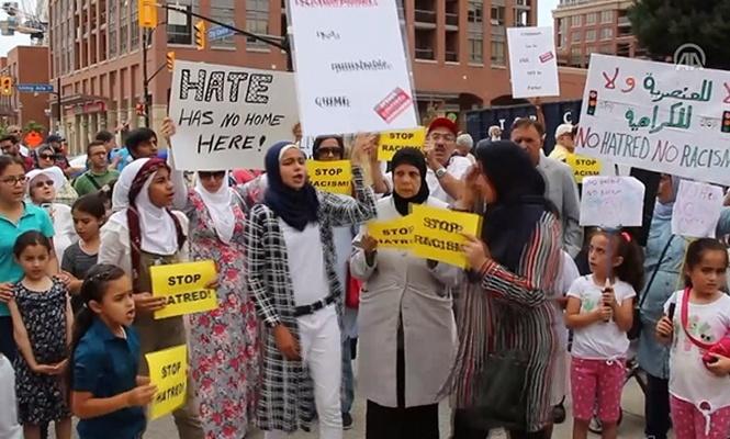 Kanada`da İslamofobi protestosu