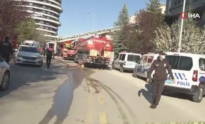 Ankara'da yaşlı bakım evinde yangın