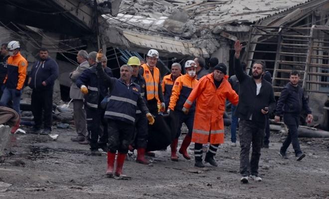 Sanayi Sitesi`nde patlama: 2 ölü, 14 yaralı
