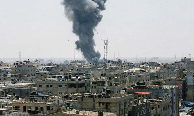 A Palestinian martyred as zionists strikes besieged Gaza