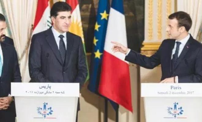 Macron'dan Barzani'ye: Bize sırtınızı dayayabilirsiniz!