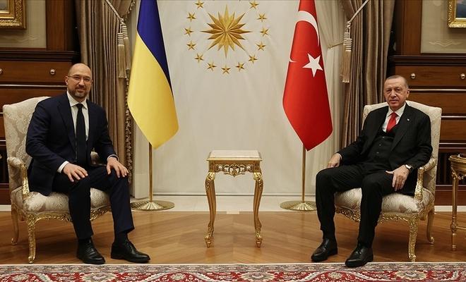 Cumhurbaşkanı Erdoğan, Ukrayna Başbakanı Shmyhal'ı kabul etti