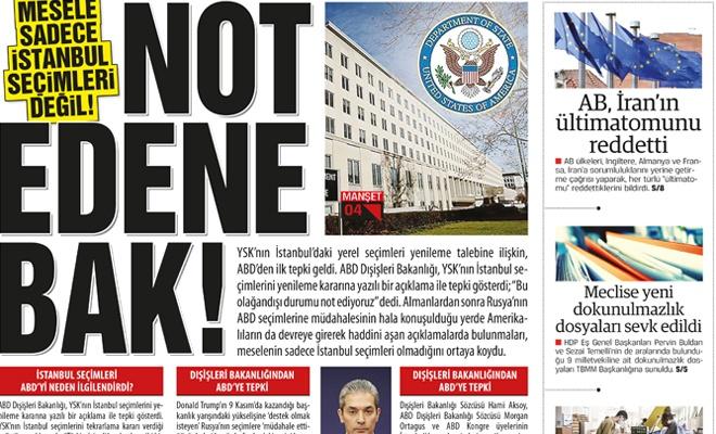 Mesele sadece İstanbul seçimleri değil!  NOT EDENE BAK!