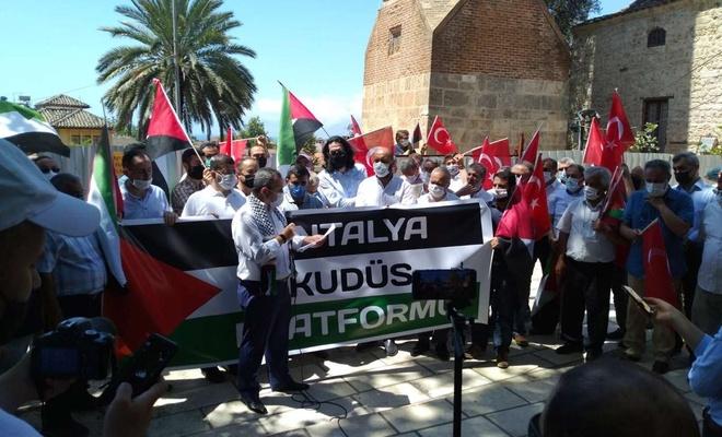Filistin'e yönelik saldırılar Antalya'daki İslami STK'lar tarafından telin edildi
