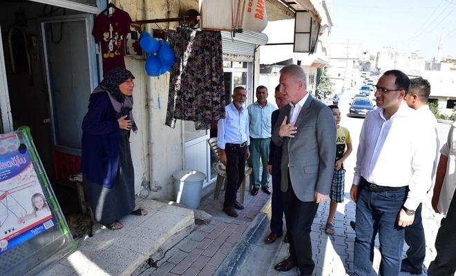 Gaziantep Valisi sınırın sıfır noktasındaki ilçeyi ziyaret etti