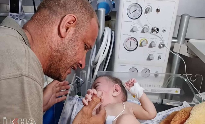 Father who lost 4 children in massacre visits his only surviving child in hospital