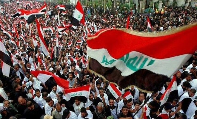 """Irak'ta """"Defol Amerika"""" yürüyüşü yapılıyor"""