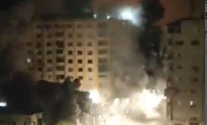 İşgal rejimi Gazze'ye yoğun hava saldırısı düzenliyor