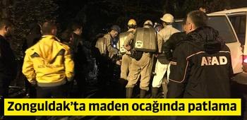 Zonguldak`ta maden ocağında patlama