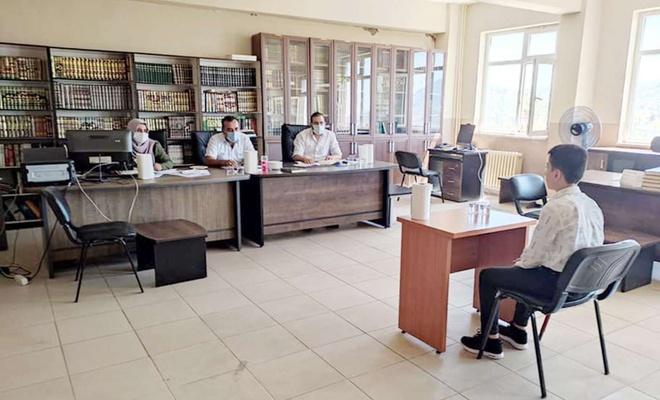 Şırnak'ta 3'üncü dönem hafızlık tespit sınavı yapıldı
