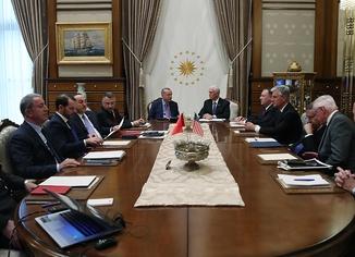 Erdoğan ve Pence başkanlığındaki heyetler arası görüşme sona erdi