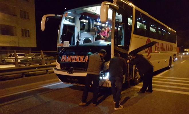 Otobüsün çarptığı kişi hayatını kaybetti