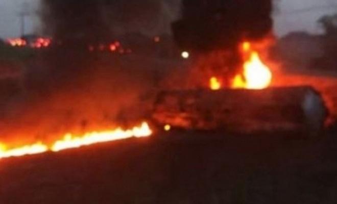 Yakıt tankeri patladı: 7 ölü