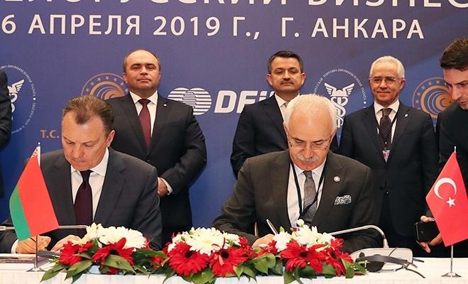 ATO ile Belarus'tan ticari işbirliği imzası