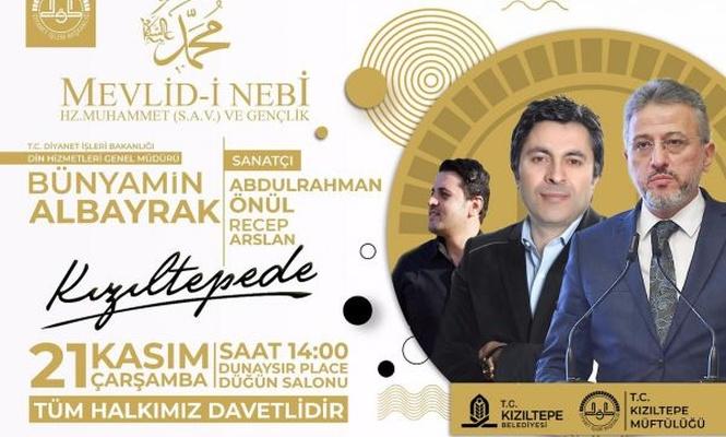 Kızıltepe`de Mevlid-i Nebi etkinliği düzenlenecek