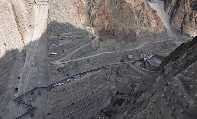 Yusufeli Barajı ve HES çalışmaları tüm hızıyla sürüyor