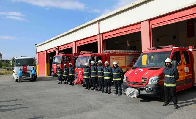 Van Büyükşehir İtfaiyesi'nden Antalya'daki yangın söndürme çalışmalarına destek