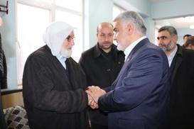 Yapıcıoğlu`ndan Viranşehir İlçe Başkanı Esmer`e taziye ziyareti