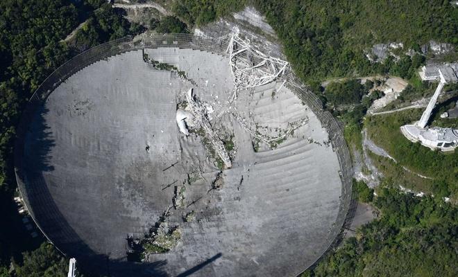 Arecibo teleskobu çöktü