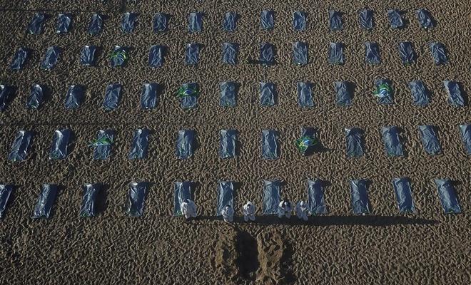 Plajda ceset torbaları!